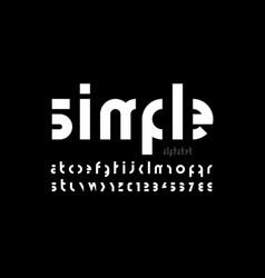 minimalistic style modern font vector image