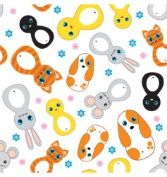 Nursery animals pattern vector