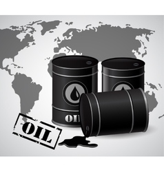 Oil barrels vector