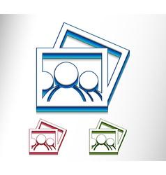 Photo icon vector