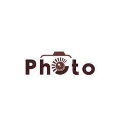 Photo text logo vector