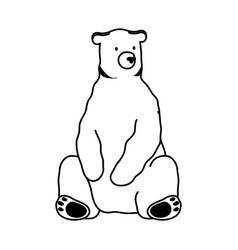 Polar bear wild animal icon vector