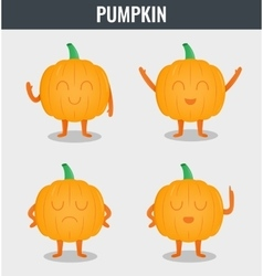 Pumpkin funny cartoon vegetables organic food vector