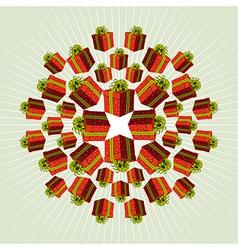 Red Mandala Gift Background vector image