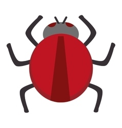 Red round bug vector