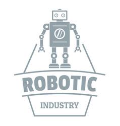 Robot future logo simple gray style vector