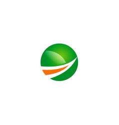 Round arrow up business logo vector