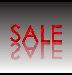 Sale red reflect vector image