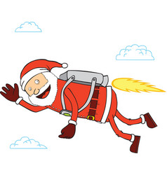 Santa flying vector