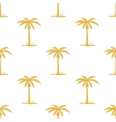 Seamless pattern with tropic palm vector