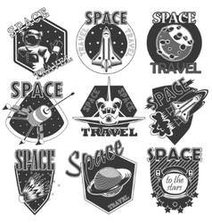 Set of icons space vector image
