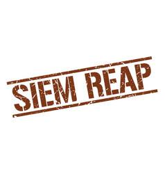 Siem reap brown square stamp vector