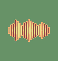 Sound waves icon cordovan icon and mellow vector