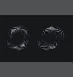 spiral circular sound wave rhythm vector image
