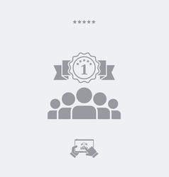 sport winner flat icon vector image