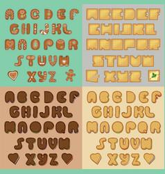 Sweet cookies alphabets artistic font vector