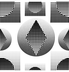 Technostyle black-and-white pattern vector