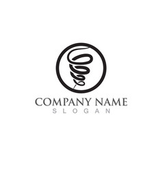 tornado logo and symbol image vector image