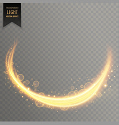 transparent light streal golden effect background vector image