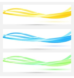 Transparent modern headers collection vector