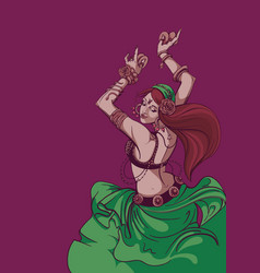 tribal fusion bellydance dancer graphic design vector image