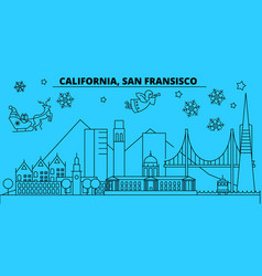 united states san francisco winter holidays vector image