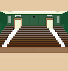 University lecture main hall with a large seating vector