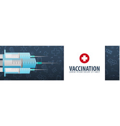 Vaccination medical banner health care vector