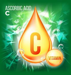 vitamin c ascorbic acid organic vitamin vector image