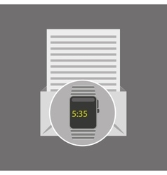 Watch envelope open letter vector
