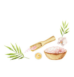 watercolor spa arrangement cosmetic vector image