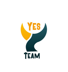yes team emblem vector image