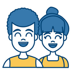 Young couple cartoon vector