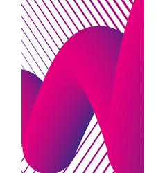 abstract shapes trendy cover design holographic vector image vector image