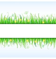 Beautiful Grass Frame vector image