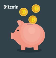 bitcoins trading flat icons vector image vector image