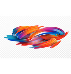 color brushstroke oil or acrylic paint design vector image