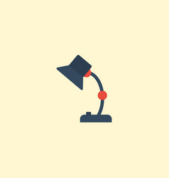 Flat icon table lamp element vector