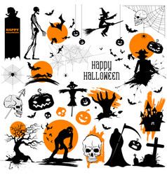 happy halloween holiday design element vector image vector image