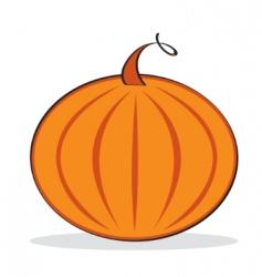 orange pumpkin with grey shadow vector image