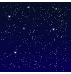 Space Starry Sky with the Moon vector image vector image