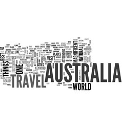 australia travel text word cloud concept vector image vector image