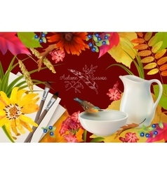 Autumn Composition vector image vector image
