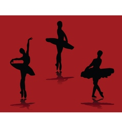 ballerinas with background vector image