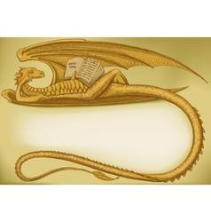 dragon symbol vector image