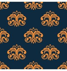 Floral orange seamless pattern vector