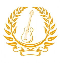 guitar symbol vector image vector image