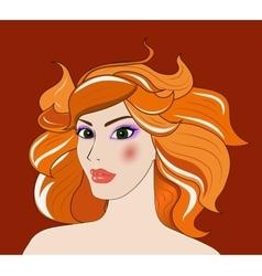 Leo beautiful girl vector image