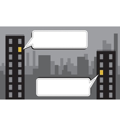 night city message vector image vector image