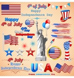 Wavy American Flag vector image